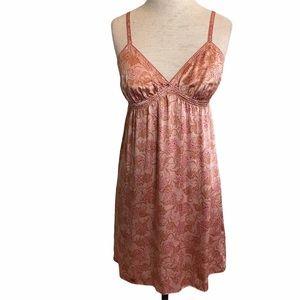 Victoria's Secret Silk Floral Chemise Pink Medium